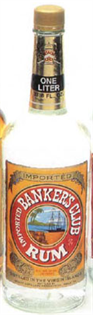 Banker's Club Rum White 1.00l - Case of 12